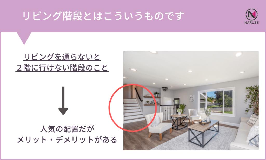 リビング階段の図解